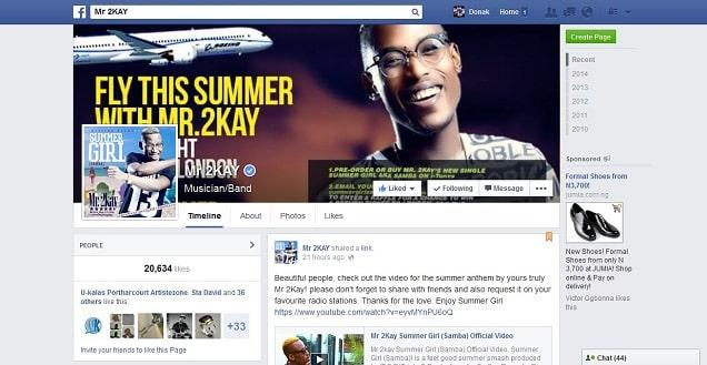 Mr 2Kay Facebook Verified