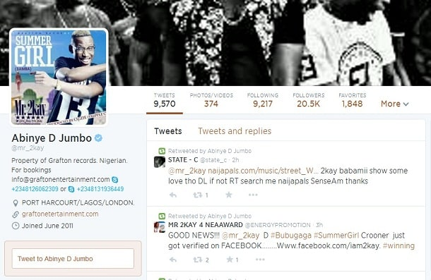 Mr 2Kay Twitter Verified