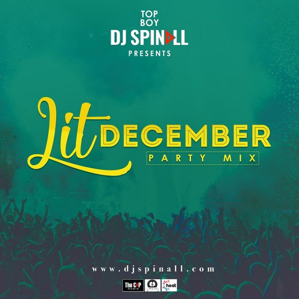 DJ Spinall Lit December Party Mix Artwork