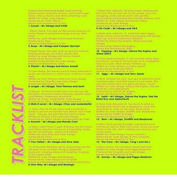 M.I Abaga Rendezvous Album Tracklist