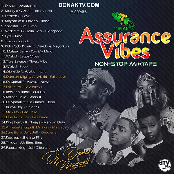 DJ Donak Assurance Vibes Mix - DOWNLOAD MIXTAPE: DJ Donak – Assurance Vibes Mix