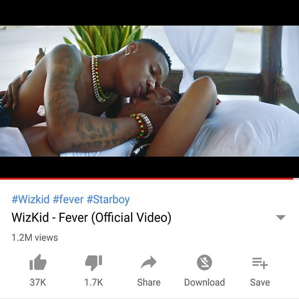 Wizkid Fever 1M