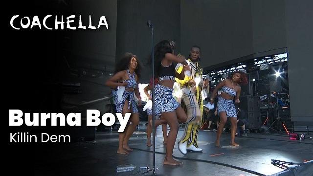 Burna Boy performs Killin Dem at Coachella 2019
