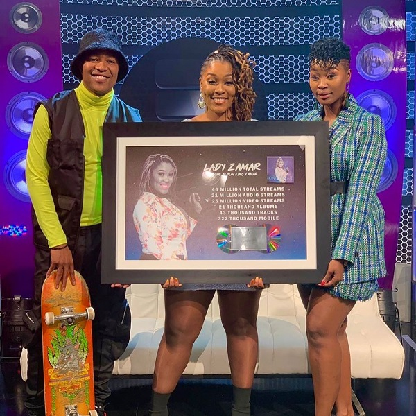 "Lady Zamar expresses excitement as album ""King Zamar"" hits double platinum"