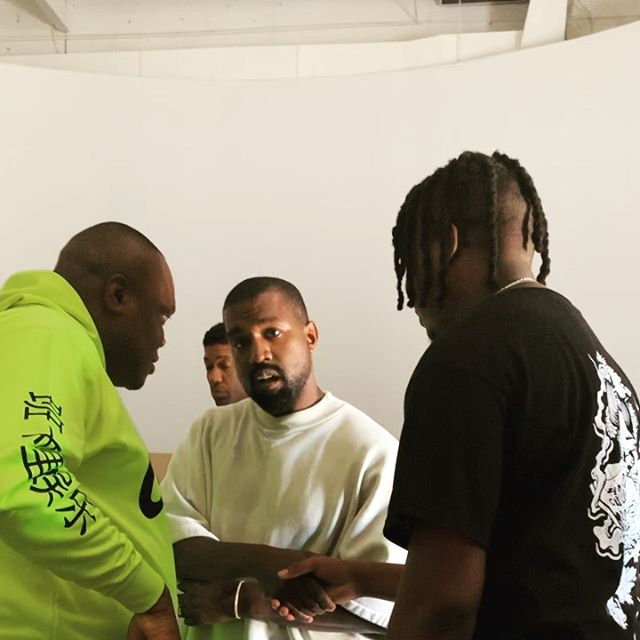 Popular Nigerian Producer, Kiddominant Meets Idol Kanye West