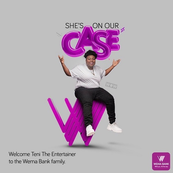 Teni De Entertainer Is Now Wema's Bank Ambassador – Naija News