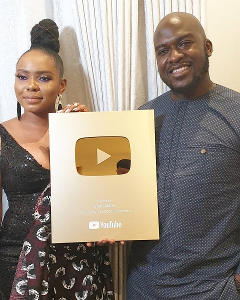 Yemi Alade Gets Awarded With YouTube Gold Play Button — Music News