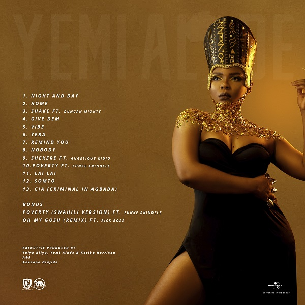 Yemi Alade - Woman of Steel [Tracklist]