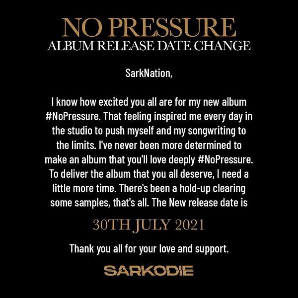 Sarkodie Album Shift Press Release